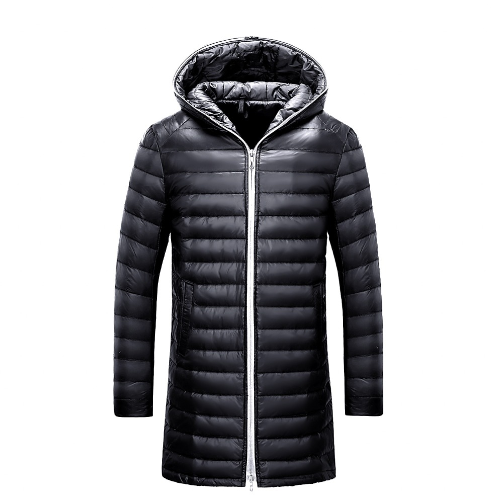 Winter Jacket Men 90% White Duck Down Long Jackets Keep Warm Coat Casual Men's thick Down Overcoat parka homme Brand New