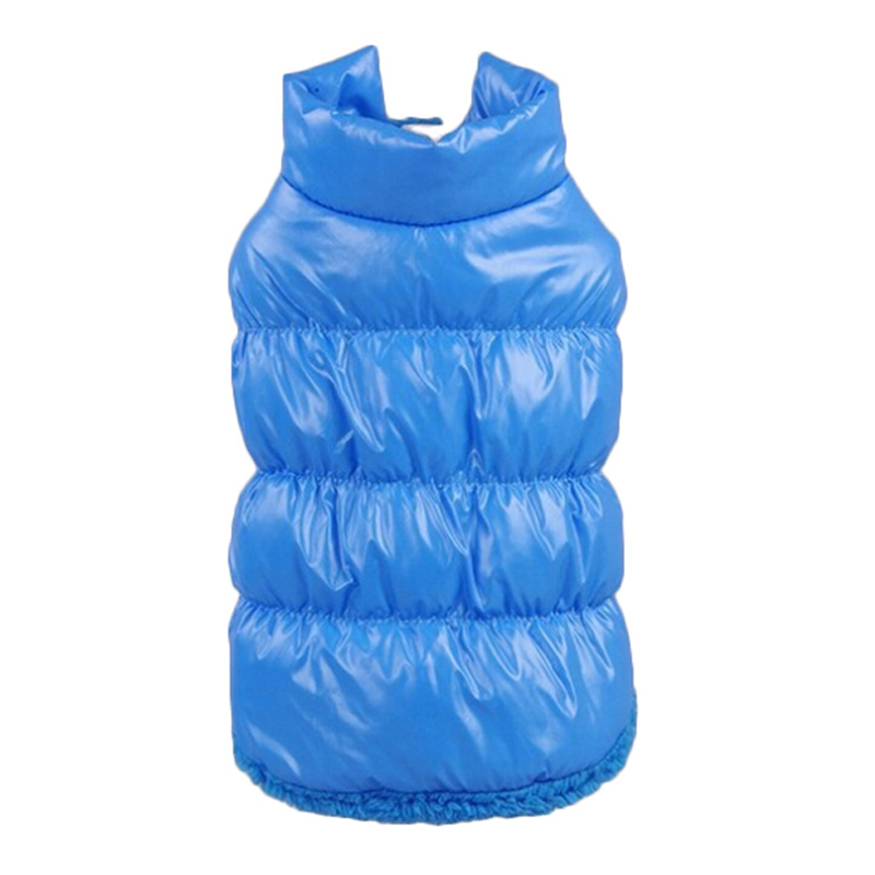Winter Dog Clothes 7 Color Pet Padded Vest Coat Puppy Warm Down Fleece Polyester Dog Coats Jackets Xs-xxxl Costume
