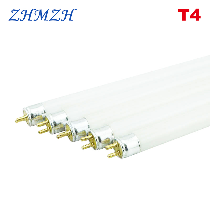 T4 Lamp Tube T4 Mirror Front Lamp Fluorescent 6W 8W White Yellow Blue Green Lens Headlight 220V Mirror Light
