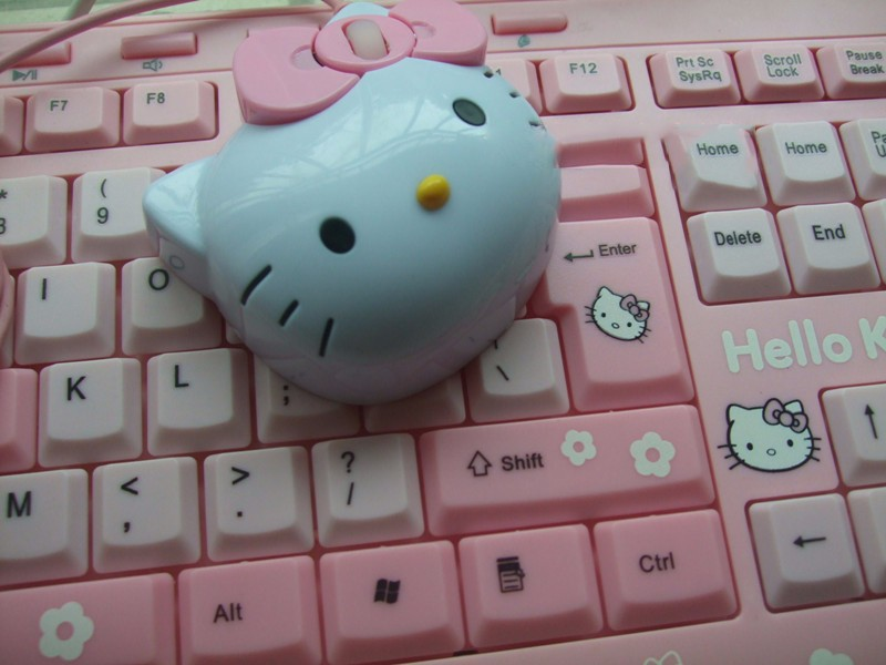 Kawaii Hello Kitty Wired Mouse USB 2