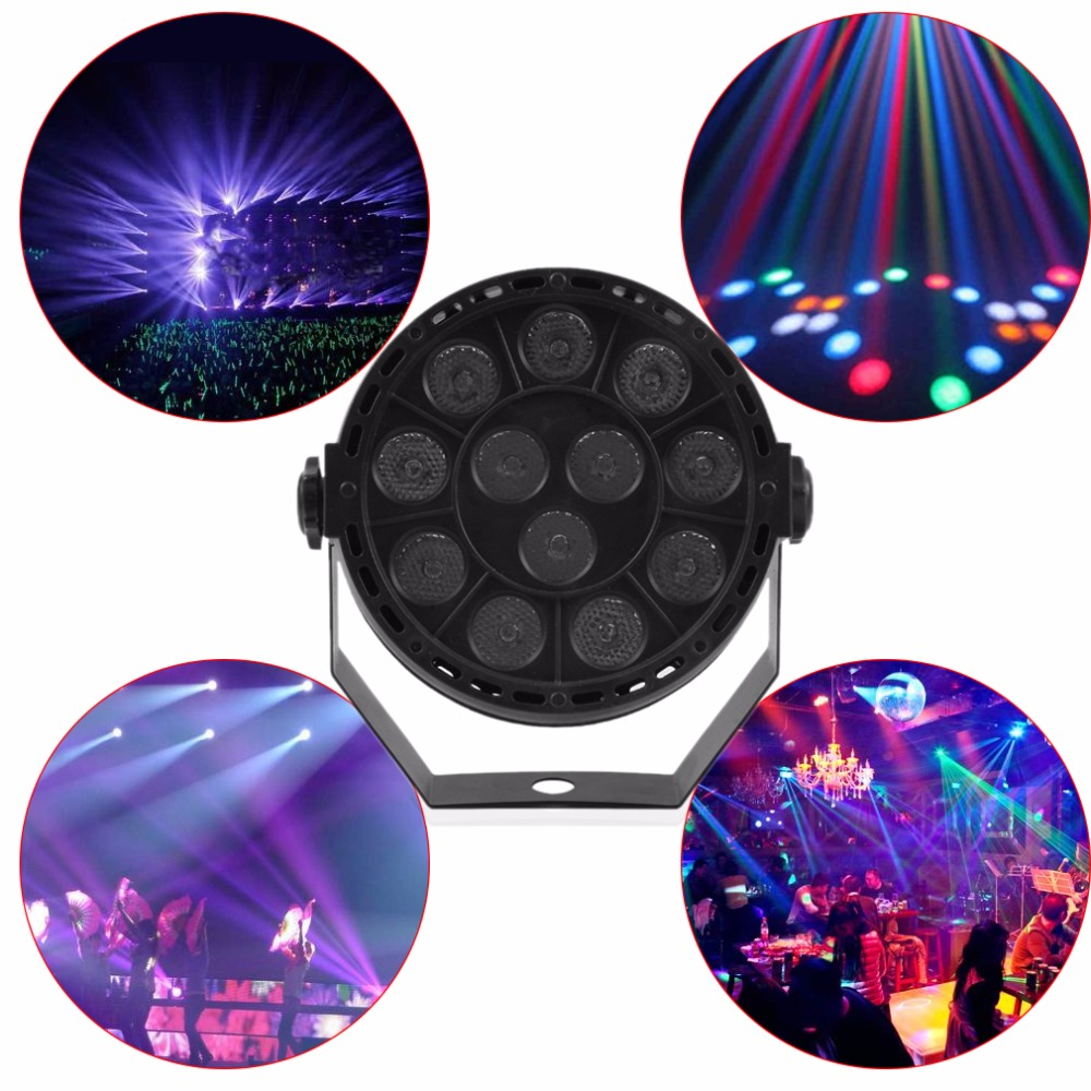 12 LED Bar Light Mini Phono Disco Stage Effect Lighting Projector Club Party KTV Show Flat DJ Equipments Controller Moving Head
