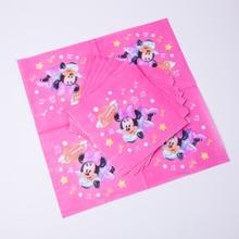 10pcs Cartoon Minnie Party Supplies Napkin Birthday Decoration Mariage Baby Shower happy Supplier Wedding Christmas