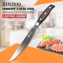 XINZUO NEW 8 inch sashimi knife German steel kitchen knife cleaver knife sushi knife rosewood handle kitchen tool free shiping