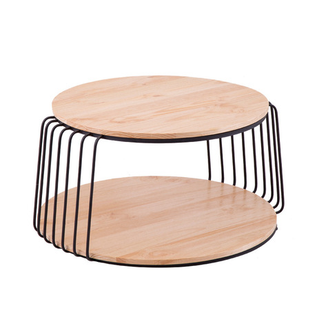 Coffee Tables Living Room Furniture Home Solid Wood Iron Round Tea Side Table Be Modern Desk 80 50 Cm 60 50cm In From