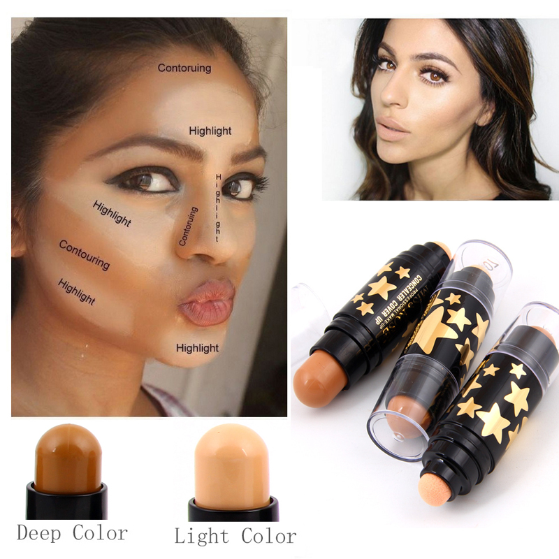 Contouring Face Make-up 12 Colors Waterproof Concealer Stick Corrective Cover High Light Skin Perfect Makeup Long-lasting Stick
