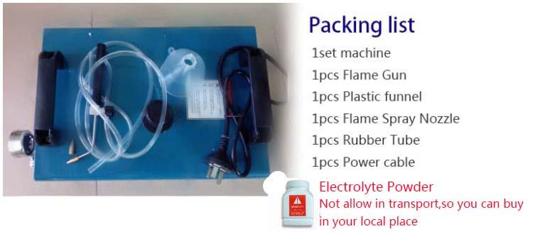 acrylic polishing machine-packing list