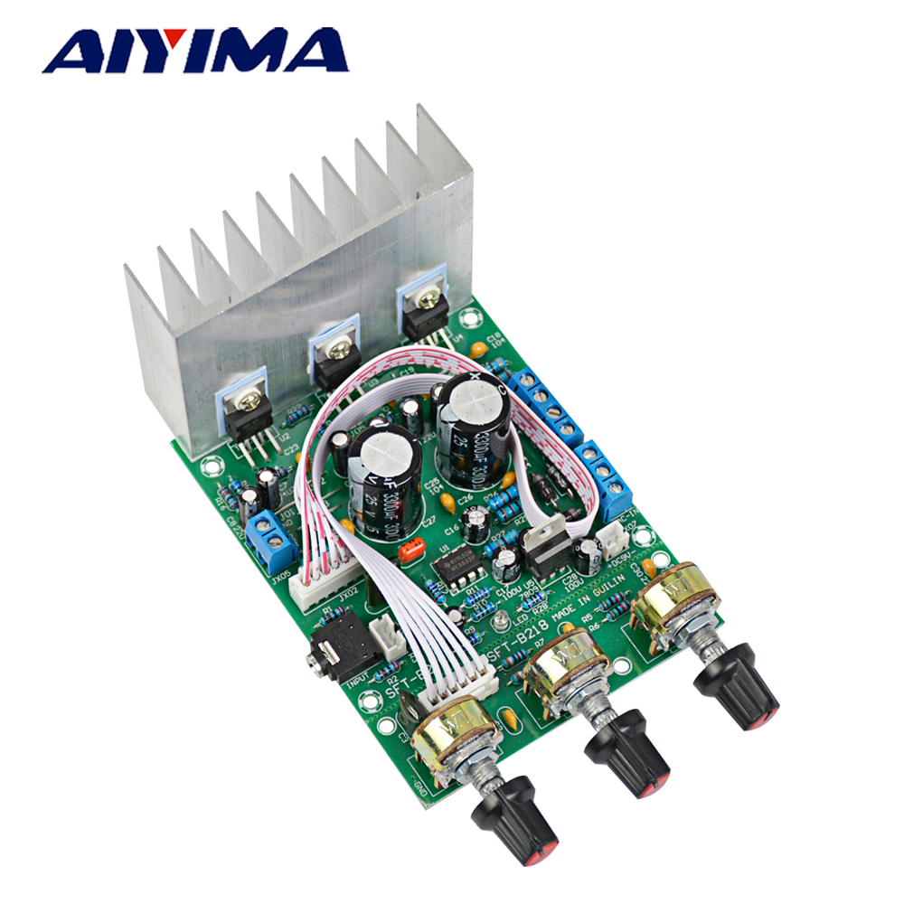 AIYIMA Amplifiers Audio Board TDA2030A Amplificador 2.1 Fever Subwoofer Amp Board Compatible With LM1875 DIY For Home Theater image