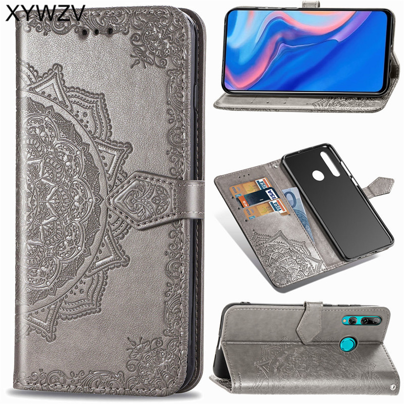 Huawei Y9 Prime 2019 Case Shockproof Popular texture Soft Silicone Phone Case Card Holder Fundas For Huawei Y9 Prime 2019 Cover-in Flip Cases from Cellphones & Telecommunications