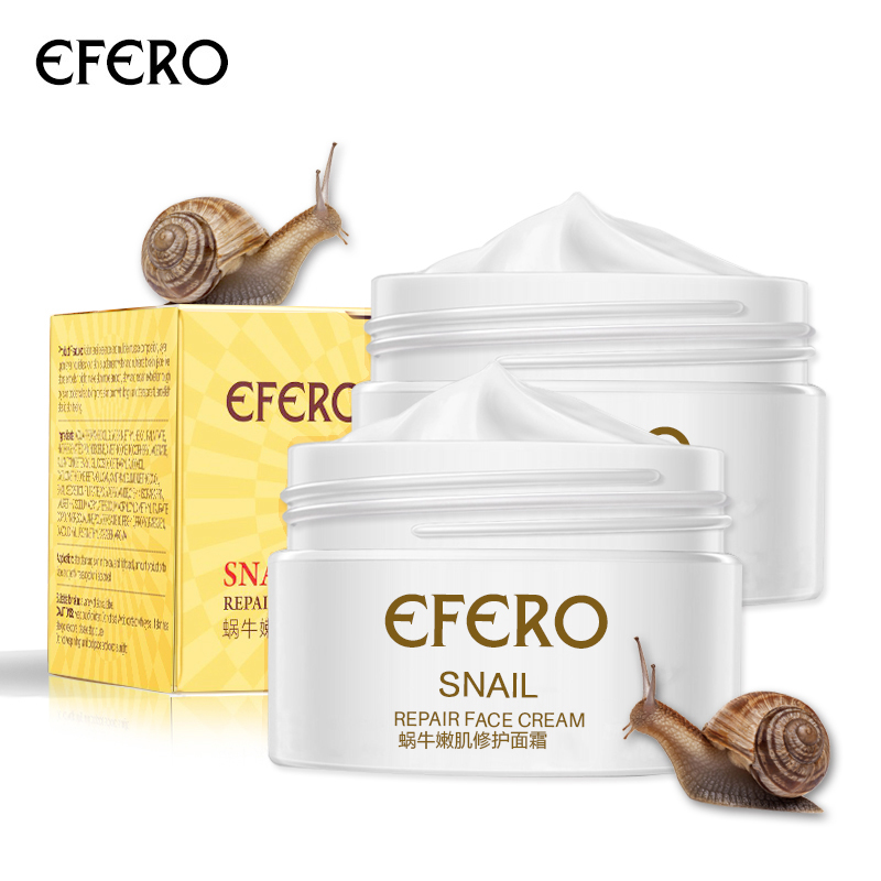 Efero Snail Cream Whitening Face Serum Anti-wrinkle Snail Face Cream Moisturizing Skin Whitening Cream Moisturizer Repair Cream