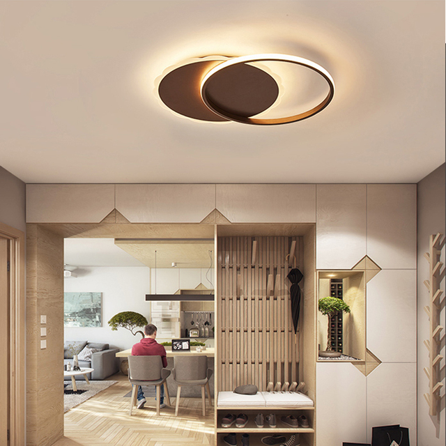 Chandelierrec Ac85 265v Aluminum Moden Led Ceiling Lights For Living Room Bedroom Low Ceilings Home Lighting Lamps