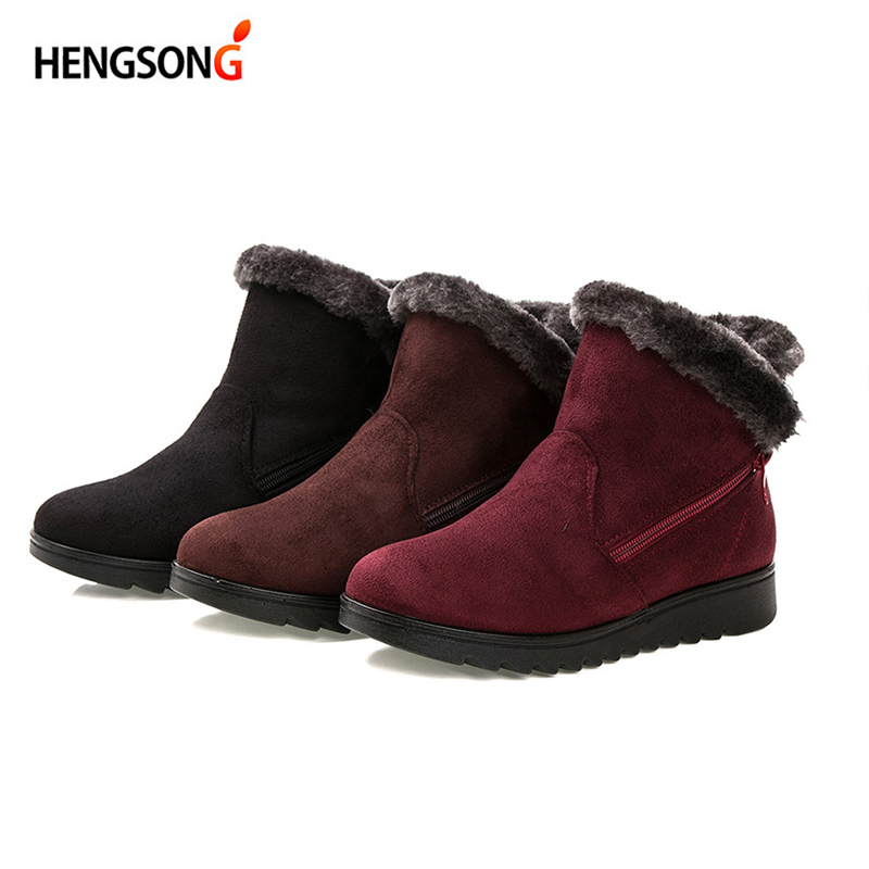 Woman snow boots Women winter shoes women's ankle boots fashion casual flat warm plush shoes female ladies 2017 new OR400880 camel winter women boots 2015 new shoes retro elegance sheepskin fashion casual ladies boots warm women s boots a53827612