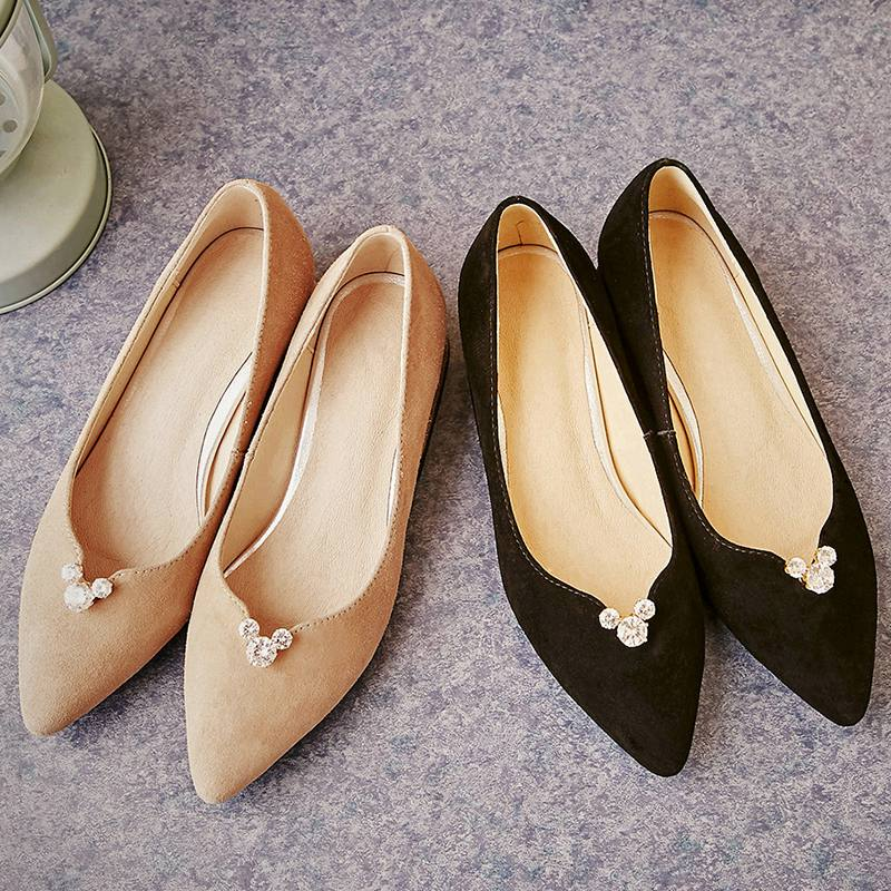2017 New Fashion Brand Spring Shoes Large Size Crystal Pointed Toe Kid Suede Thick Heel Women Pumps Party Sweet Office Lady Shoe 2017 new fashion brand spring shoes large size crystal pointed toe kid suede thick heel women pumps party sweet office lady shoe
