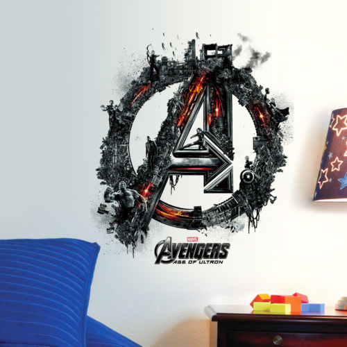 Avengers Iron Man Thor Hulk Mural Wall Sticker PVC Decal Kids Boys Bedroom Room Decor