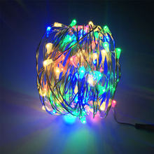 100 Led Strings Silver Wire Battery/USB-Operated 2M 5M 10M LED String Fairy Lights Christmas Wedding Party Decoration(China)