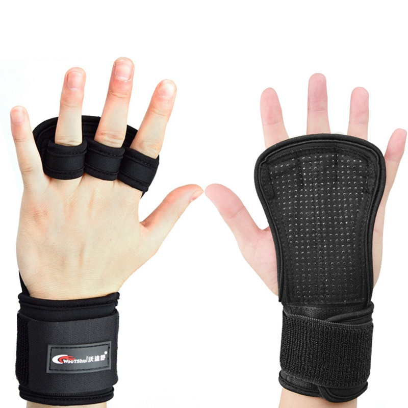 Non-Slip Silicone Carben Fiber Wristband Gloves Indoor Fitness Barbell Dumbbell
