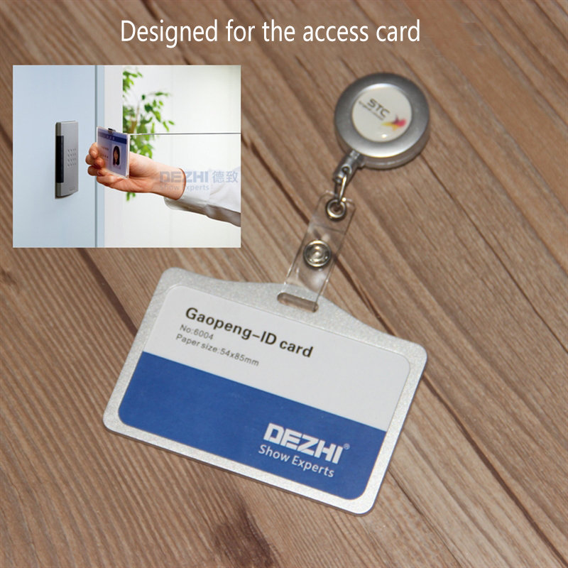 Metal Badge Reel for Access Card,Retractable Chain Work Card,Testificate ID IC Card Holder Reel For Office Business