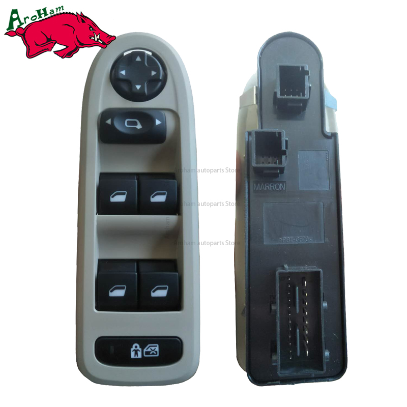 Free Shipping! NEW 96644915 For Peugeot 308/508/C5 5 Door Hatchback Wagon Master Window Switch 2008-2013 Power Window Switch power window lifter switch for mazda6 hatchback gh estate 2007 2008 for electric mirror adjustment switch gs1e 66 350 a