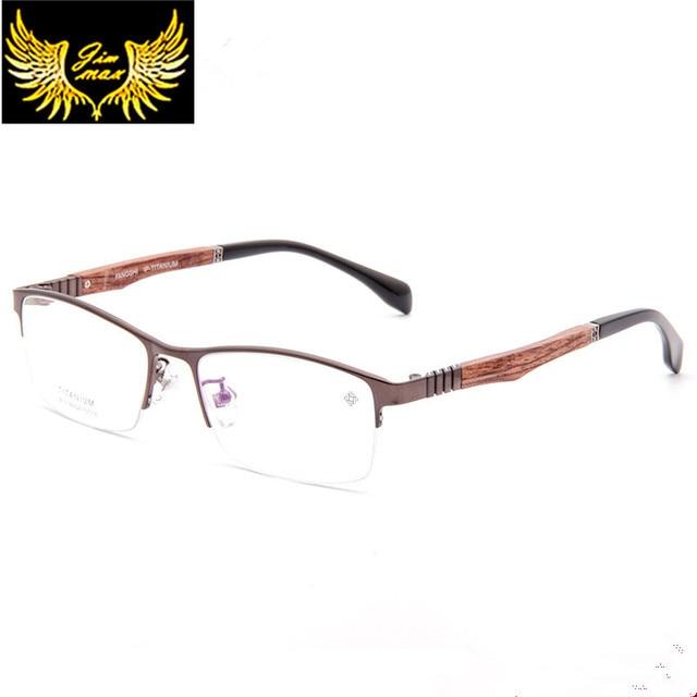 899df2c79af 2016 New Men Style Pure Titanium Half Rim Square Eye Glasses Fashion Men s  Eyeglasses High Quality