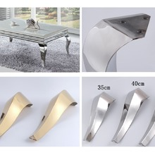 Bath Tea Chair-Leg-Legs Furniture Sofa Feet Coffee-Stool-Bar Stainless-Steel Gold 2pcs/Lot