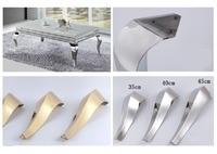2Pcs/Lot Shiny Gold Stainless Steel Furniture Bath Tea Coffee Stool Bar Sofa Chair Leg Legs Feet S Snake European