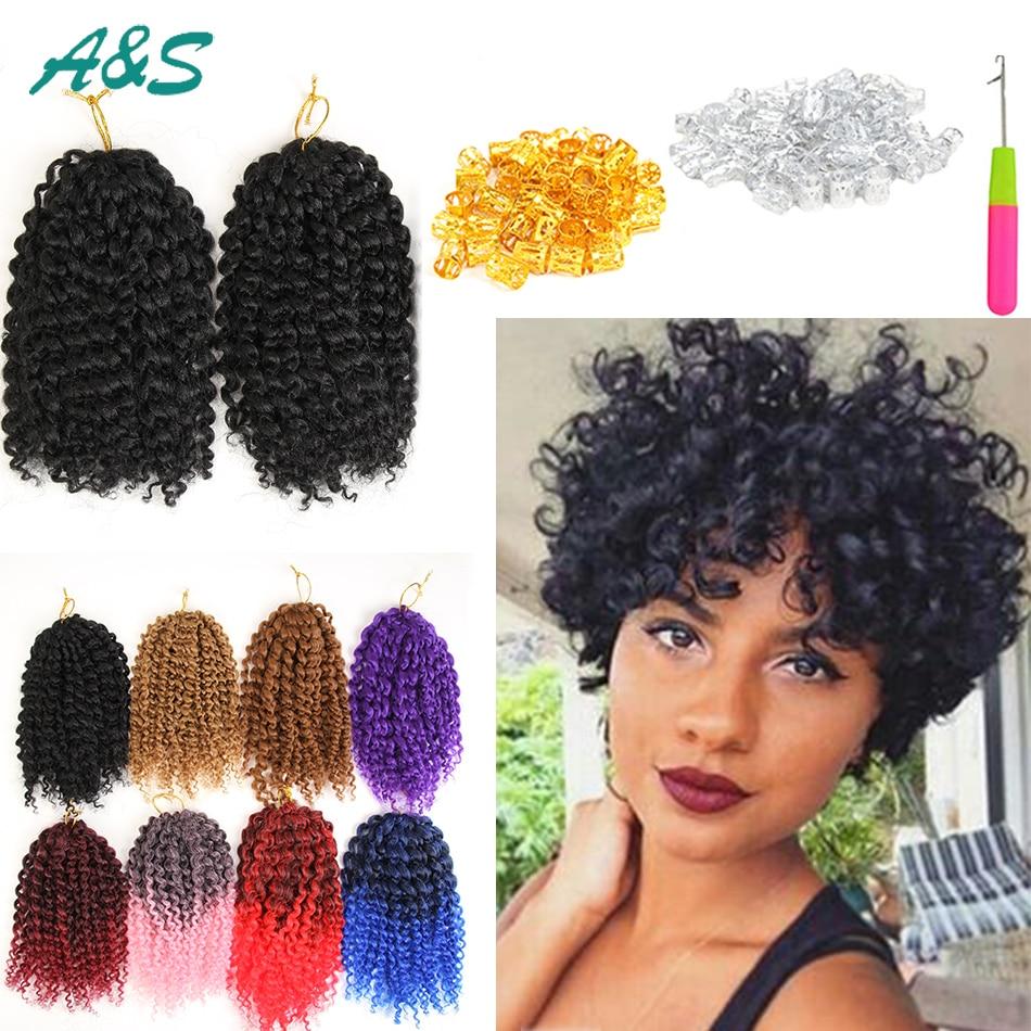 Curly hair weave braids