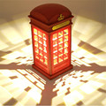 2017 New  Energy Saving Retro London Telephone Booth Night Light USB Battery Dual-Use LED Bedside Table Lamp