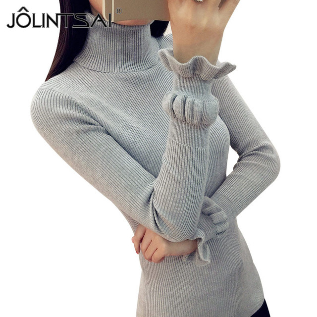 cee19019dc 8 Colors Fashion New Autumn Winter Sweater Women 2017 Jumper Pullovers  Casual Slim Turtleneck Butterfly Sleeve Knitted Sweater