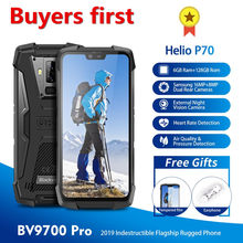 Original Blackview BV9700 Pro Helio P70 6GB + 128GB Android 9,0 Smartphone 16MP noche visión IP68 impermeable NFC teléfono móvil 4G(China)