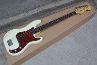 Оптовая продажа Высококачественная Белая 4 струнная бас гитара Бесплатная доставка 14 11 11
