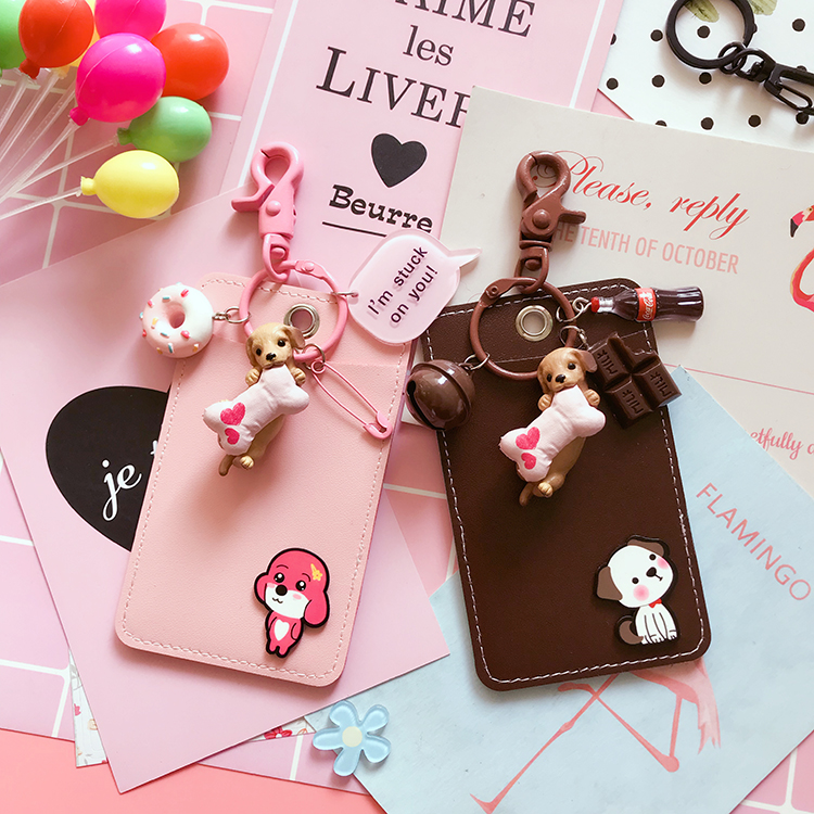 2019 New Lovely Dog Metal Buckle Card Holder ID Badge Case Student Nurse Bank Credit Card Holders ID Badge Holders Keychain2019 New Lovely Dog Metal Buckle Card Holder ID Badge Case Student Nurse Bank Credit Card Holders ID Badge Holders Keychain