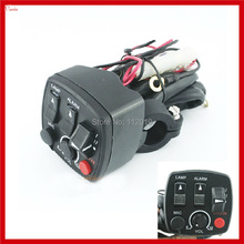 Супер многофункциональный переключатель для Руля Мотоцикла, мощность мотоцикла, светильник, сигнал поворота, вспышка, рупорный переключатель в сборе