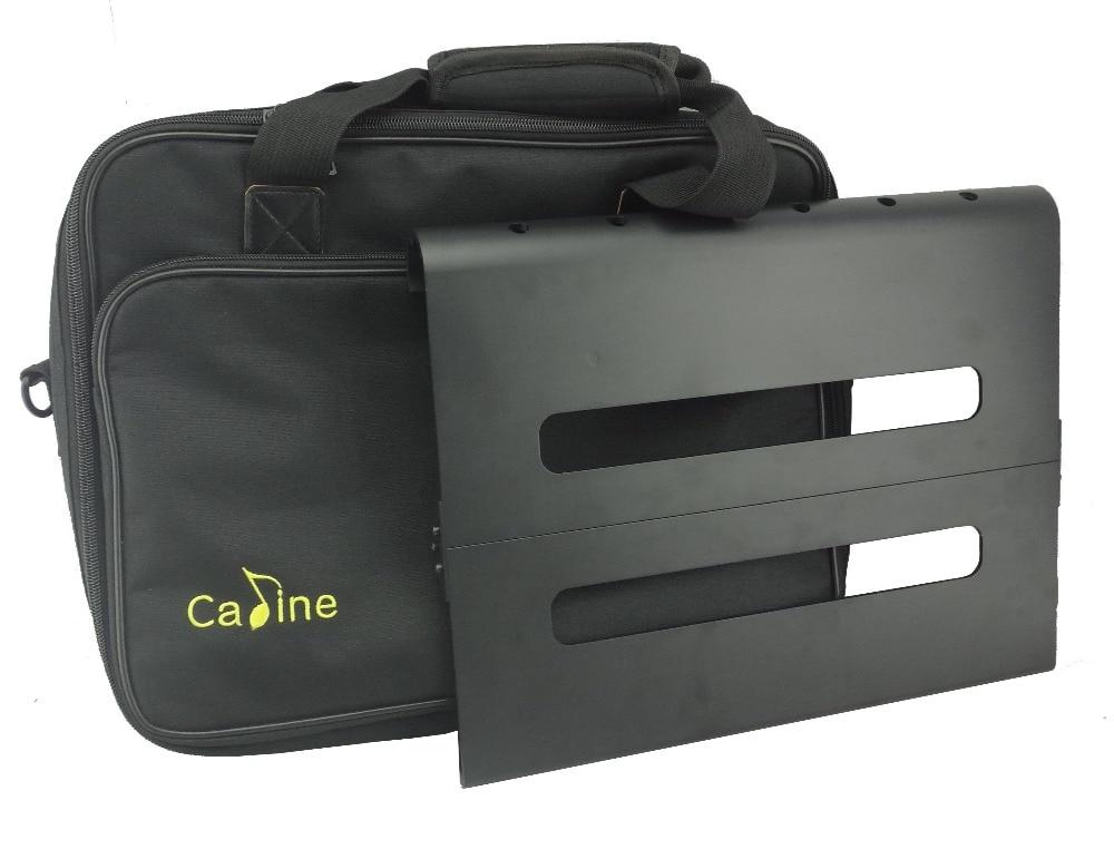 Caline Pedalboard CB-106 Κιθάρα Επιδράσεις Pedal Board Αλουμινίου Πλάκες πεντάλ αλουμινίου Convertible Modular με ανθεκτική τσάντα