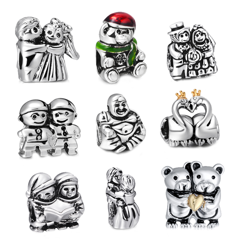 Best Wedding Gift List 2015 : 2015 New Fashion Best Wedding Gift Silver Palted European Bead Charms ...