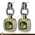 New! потрясающие Ювелирные Изделия Перидот Кварц 925 Серебряные Серьги E0357 Наборы