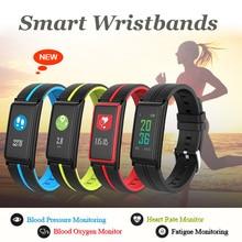 Фотография Color Screen Smart Bracelet Blood Oxygen/Blood Pressure/Heart Rate/Fatigue Monitor Fitness Band Activity Tracker Bluetooth Watch