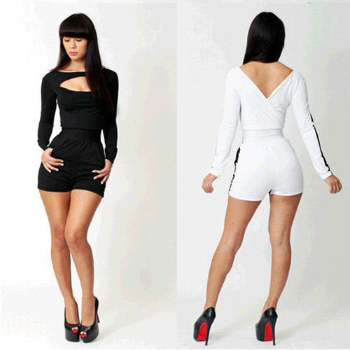 Bodycon Jumpsuits Free Shipping!! Promotion! New Summer Ladies classy Jumpsuit 3S2246/7 fashion sexy clubwear
