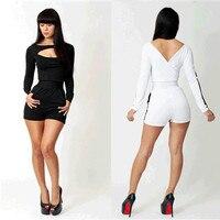 Tute Bodycon Spedizione Gratuita!! promozione! nuova Estate Signore di classe Tuta 3S2246/7 moda sexy clubwear