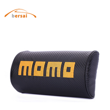 MOMO Carbon fiber Car seat headrest soft Neck Pillow Car styling for bmw honda mazda volkswagen ford toyota kia Seat accessories 2017 new style car styling car tail decoration for new beetle toyota avensis peugeot touareg kia ceed seat ibiza accessories