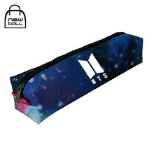 Newtall Kpop Bangtan Boys BTS PU Pencil Case School Nylon Starry Sky Pencil Box Supplies Tools Stationery Bag Cosmetic Bag New(China)