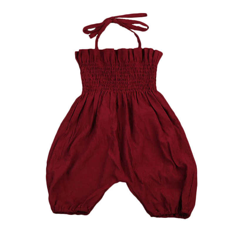 7812666f1c74 Detail Feedback Questions about Wine Red Newborn Toddler Kids Girl Romper  2017 Summer Sleeveless Strap Jumpsuit Elastic Corset Children Clothes  Sunsuit on ...