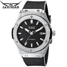 JARAGAR Men's Boyfriend Automatic Date Mechanical Black Rubber Wrist Watch Gift Free Ship