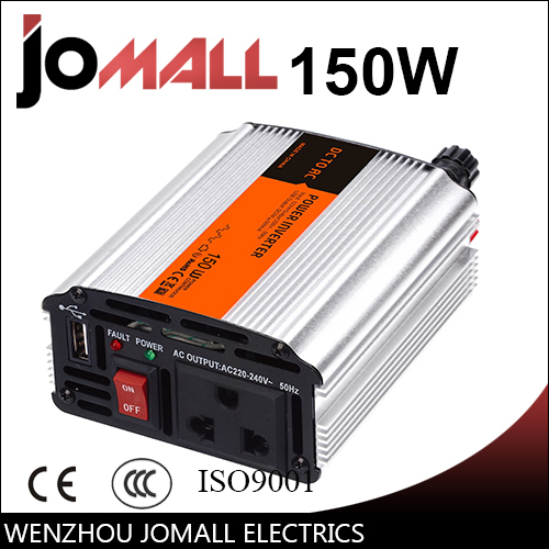 цена на 150W modified sine wave 12/24V DC to 110/220V AC Portable Car power inverter