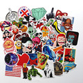 2017 50pcs Random Mixed Sticker for Snowboard Laptop Luggage Car Fridge DIY Styling Vinyl Decal home decor Stickers Pegatinas
