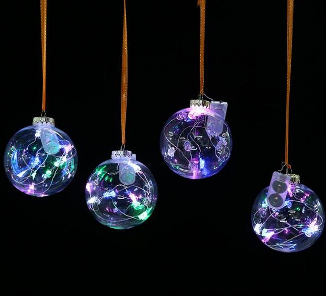 Transparent balls christmas tree ornaments pendant decor wedding transparent balls christmas tree ornaments pendant decor wedding clear ball party valentines decorations diy by yourself solutioingenieria Gallery