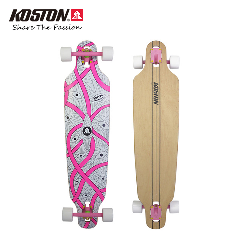 KOSTON Professional Longboard Completes 40 Inch Skateboard 8ply Canadian Maple Laminated  Drop Through Board Cruising Skateboard