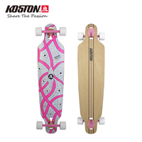 KOSTON Pro Longboard Completes 40inch Drop Through Style Long Skateboard Completed Set For Cruising Purpose