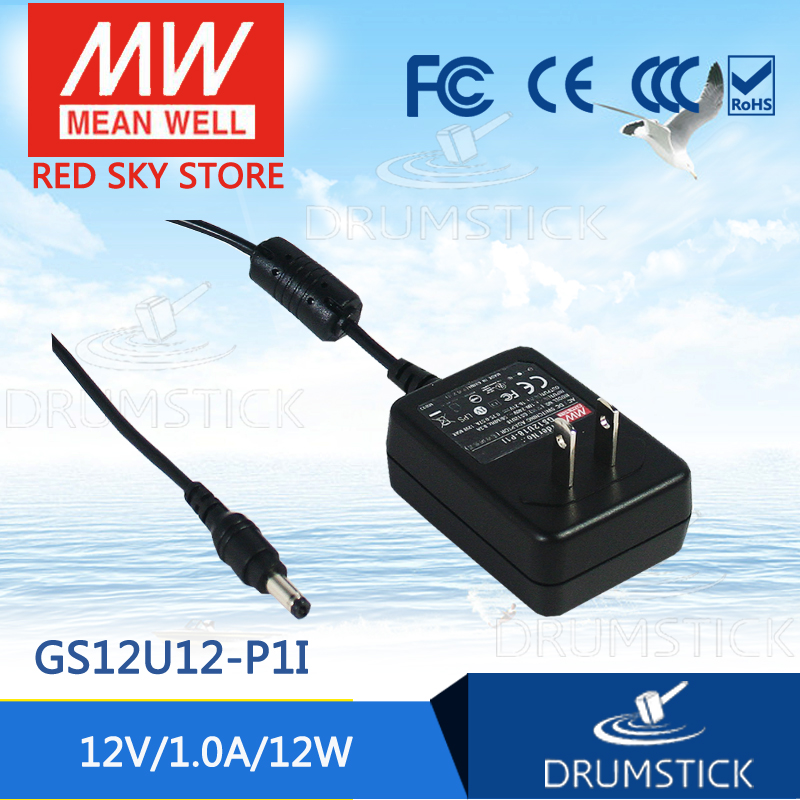 hot-selling MEAN WELL GS12U12-P1I 12V 1A meanwell GS12U12 12V 12W AC-DC Industrial Adaptor [Real6] разъемы и переходники furutech gs 21 p g