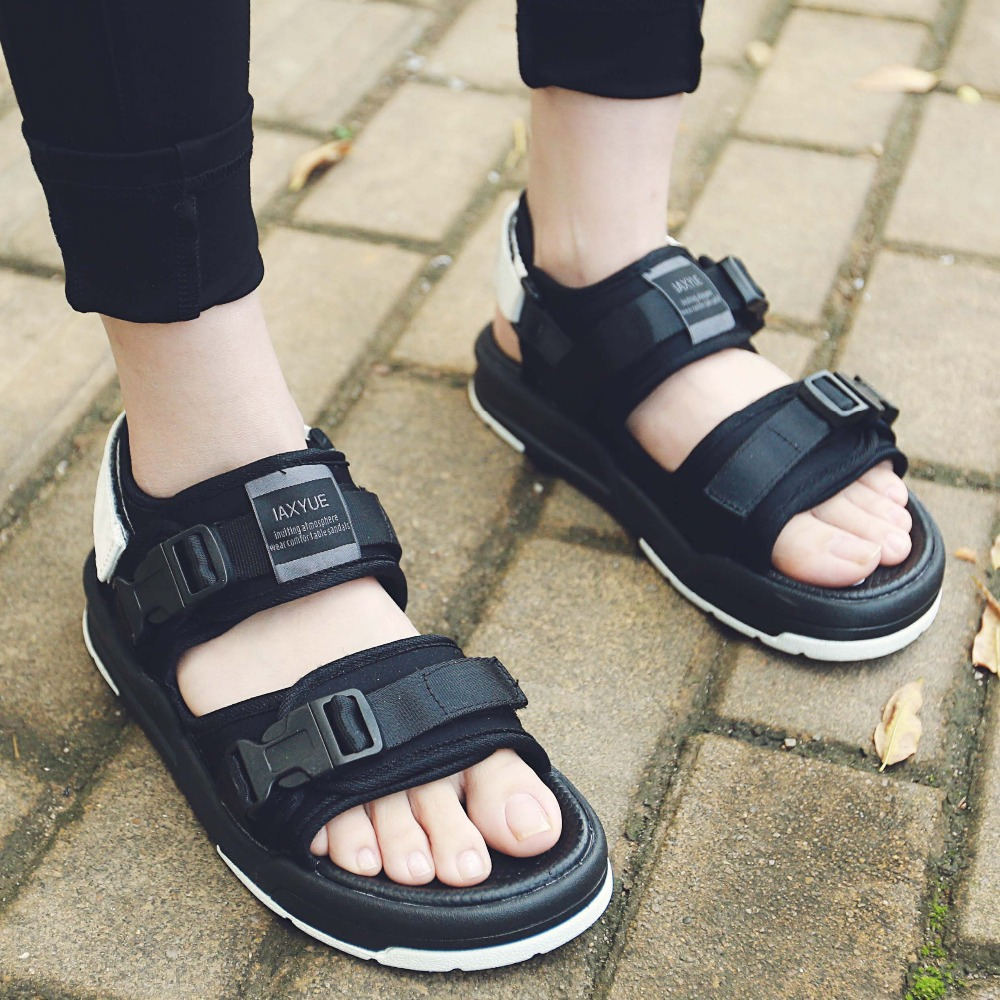 Korea new summer sandals men and font b women b font couple Harajuku wild sandals Roman
