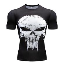 Gyms t-shirt Summer 3D Fitness men's t-shirt the Avenger Compression Shirt Fitness menswear Quick-drying workout fitness t-shirt