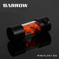 Barrow T Virus Helix Suspension Cylinder Water Tank 155mm Orange With Black Cap Water Cooling Reservoir